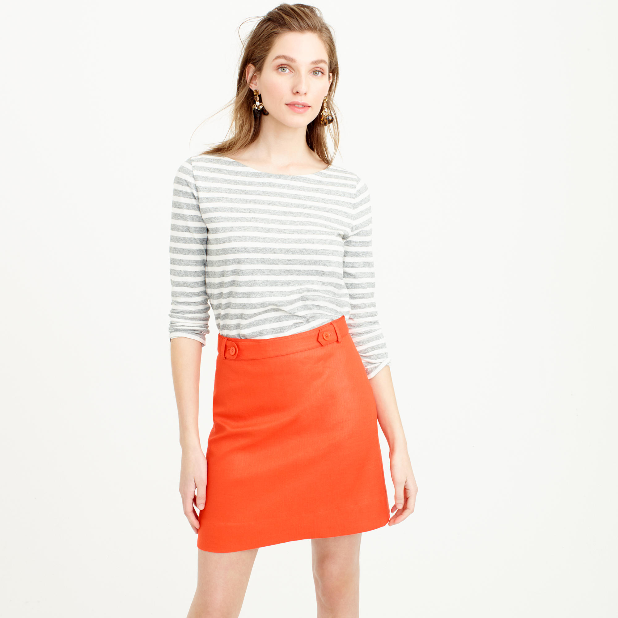 Mini Skirt in Bonded Linen