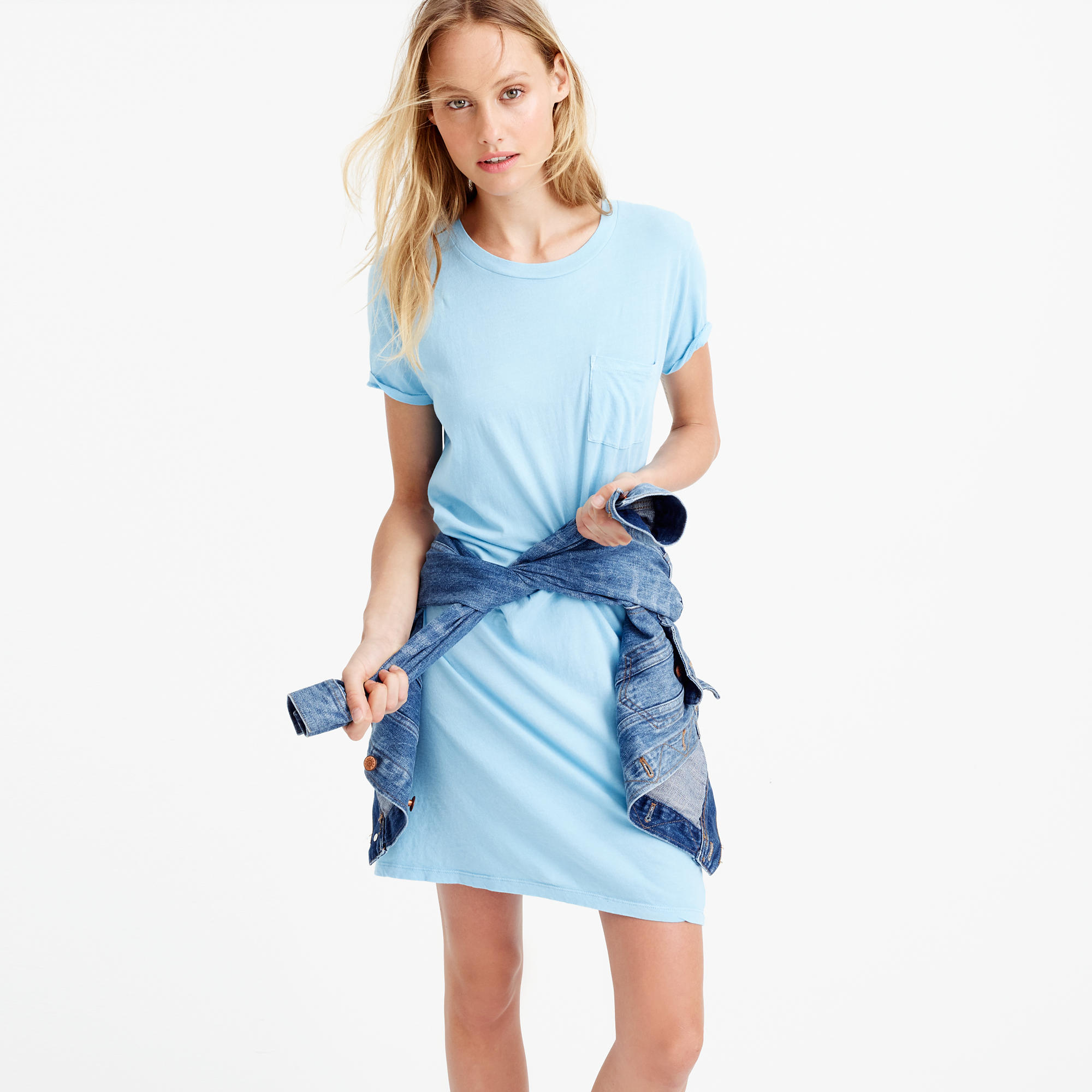 Grament-Dyed t-shirt Dress